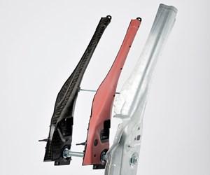 Composite insert as a structural reinforcement for A-pillars