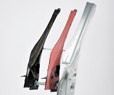 Porsche hybrid metal composite A-pillar