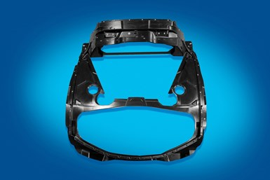 composite compression molded rear surround frame