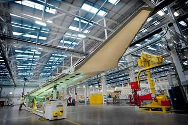 Bombardier Belfast A220 wing.