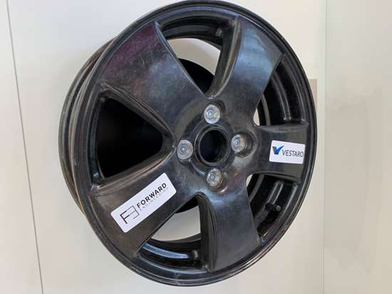 Wheel fabricated with Evonic epoxy SMC.