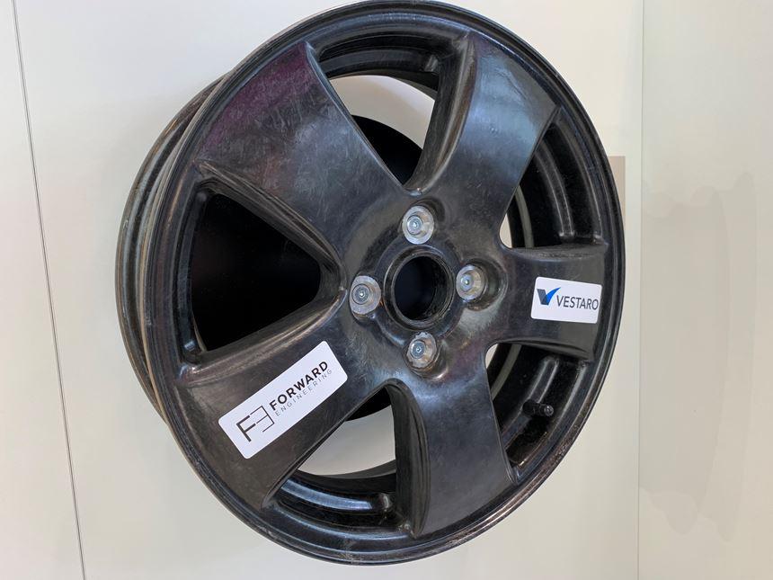 Wheel fabricated with Evonic epoxy SMC.