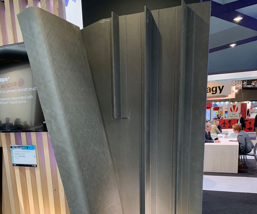 Hexcel infused, integrated wing panel demonstrator.