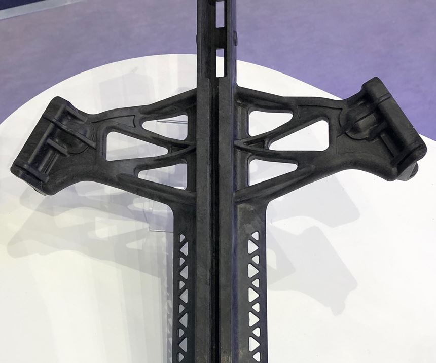 Crossbow made with PolyOne carbon fiber/TPU material.