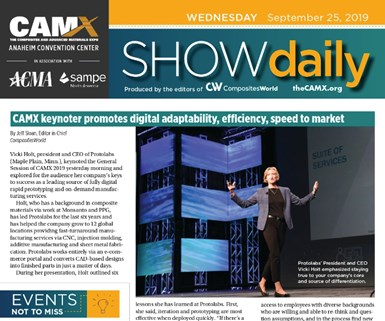 CAMX 2019 Show Daily cover