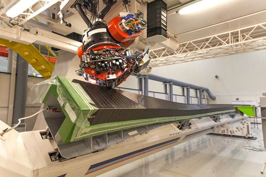MC-21 wing spar layup for infusion