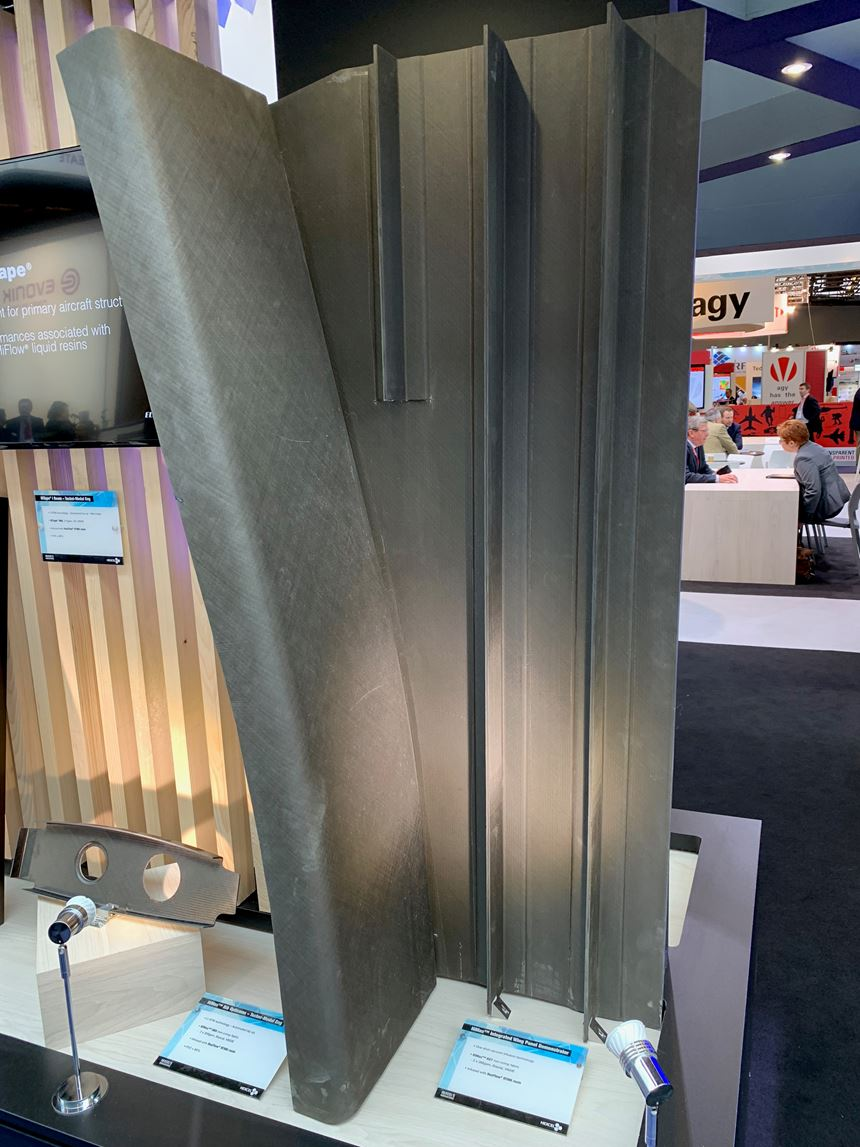 Hexcel JEC stand infused structure demonstrator