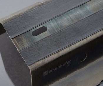 Fraunhofer IPT hybrid steel/thermoplastic composite part, JEC World 2019