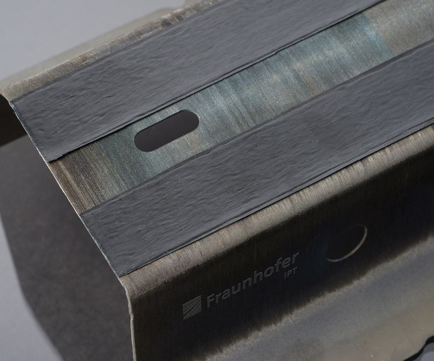 Fraunhofer IPT hybrid steel/thermoplastic composite part, JEC World 2019
