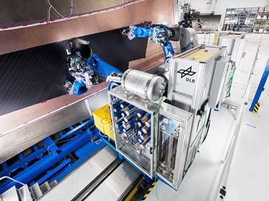DLR GroFi multi-robot AFP/ATL for aerocomposites fabrication