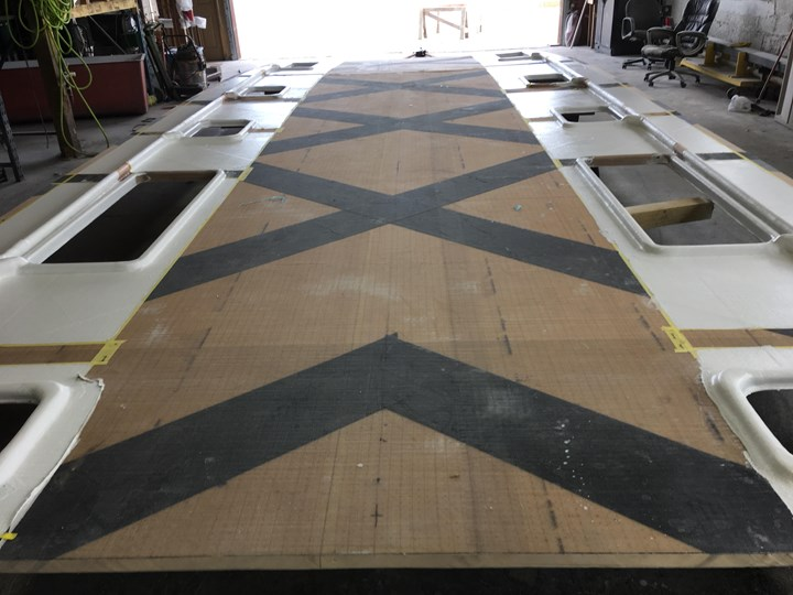 carbon fiber reinforcement for composite catamaran
