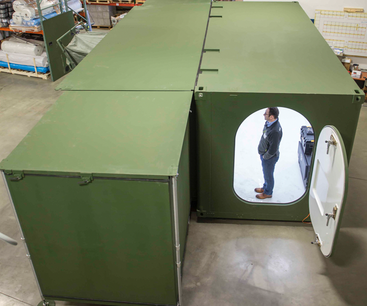 Core Composites fast-build military shelter