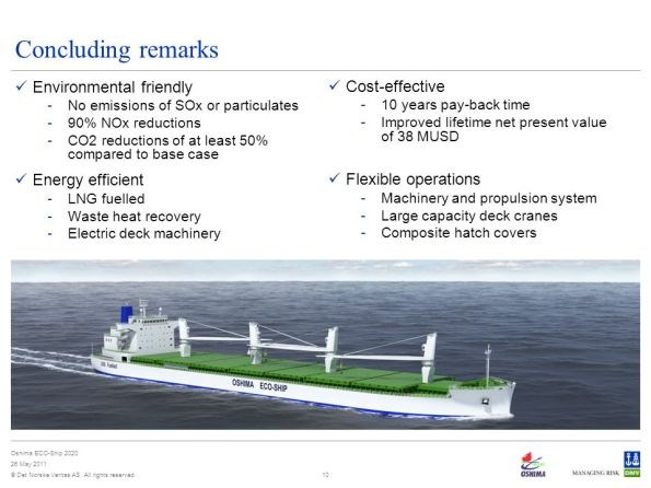 DNV and Oshima develop cargo carrier that uses composites to cut energy and fuel usage and CO2 emissions