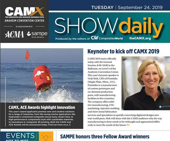 CAMX 2019 Show Daily Day 1