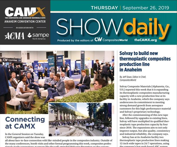 Download today's news from CAMX: Thursday, Sept. 26 image