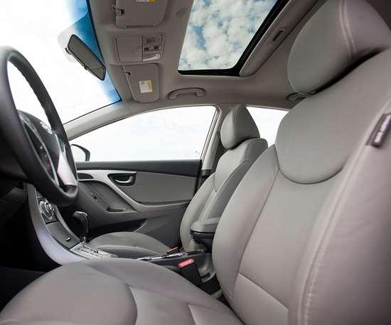 composite pillar trim on car interior
