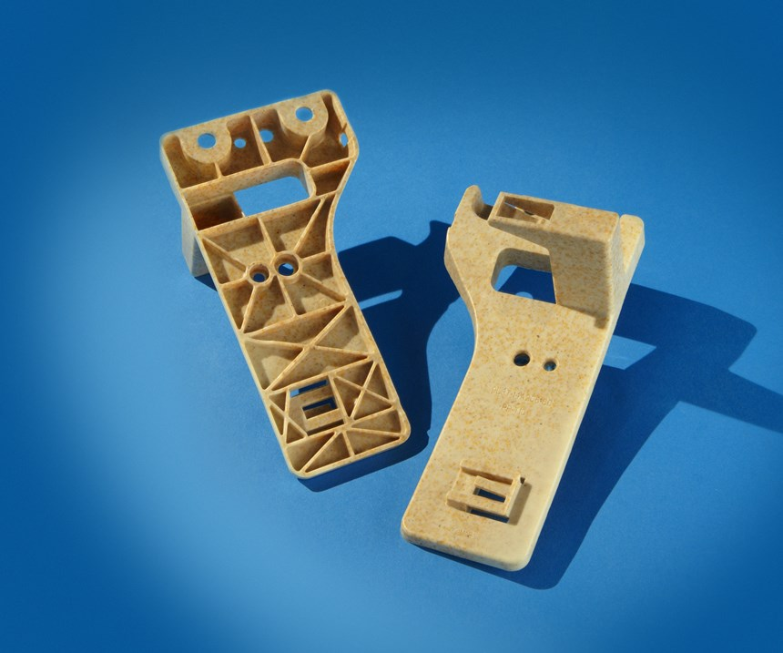 rice hull-reinforced polypropylene electrical cowl bracket