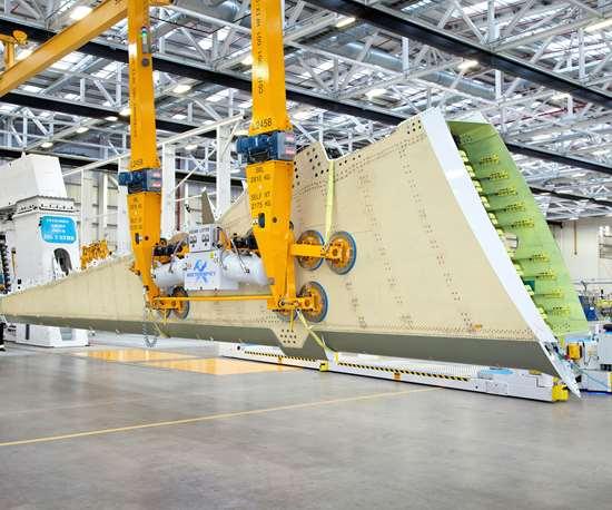 Bombardier Belfast carbon fiber infused wings