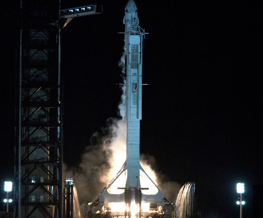 NASA launch of Demo-1 SpaceX Falcon 9 rocket