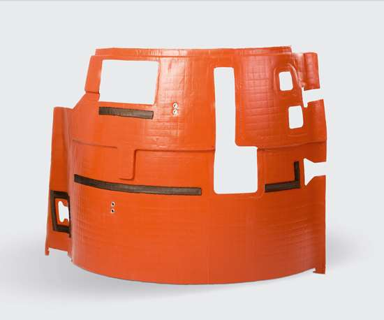composite engine cowling blanket