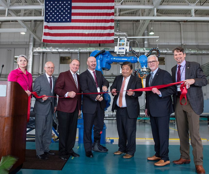 Marvin B. Dow Stitched Composites Development Center grand opening