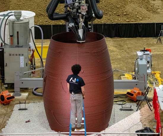 NASA 3D-printed basalt fiber composite Mars habitat