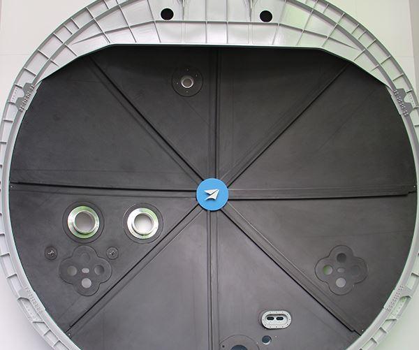 Premium Aerotec carbon fiber composite pressure bulkhead