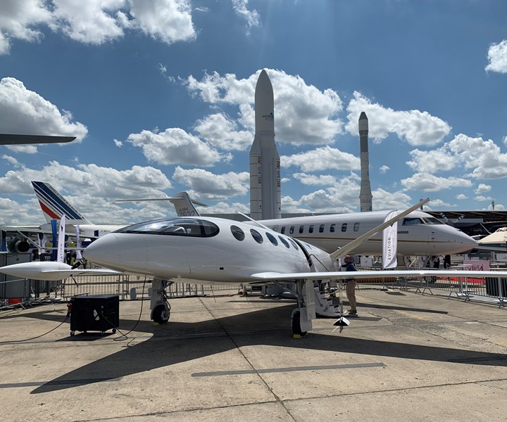 Eviation electric aircraft at the Paris Air Show 2019