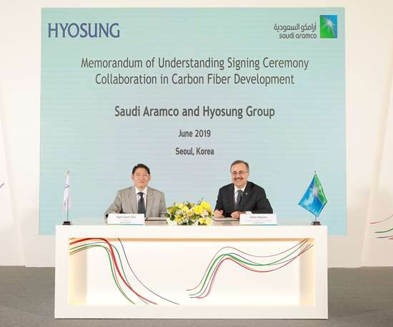 Hyosung and Saudi Aramco sign agreement for carbon fiber plant