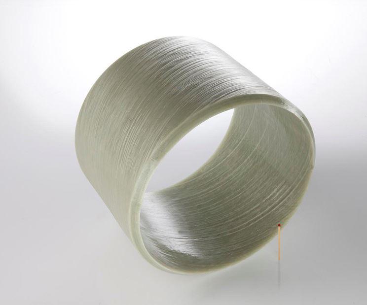 segment of a BASF filament wound utility pole
