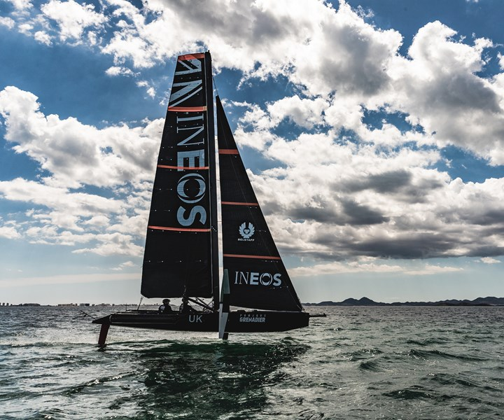 INEOS UK racing boat using recycled carbon fiber composites