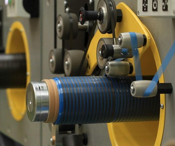 Cygnet Texkimp carbon fiber prepreg tape slitter