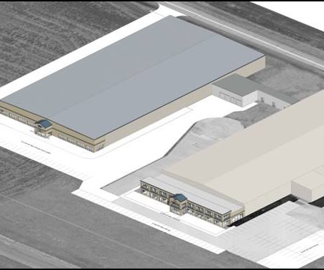 rendering of Park Aerospace composite manufacturing facility