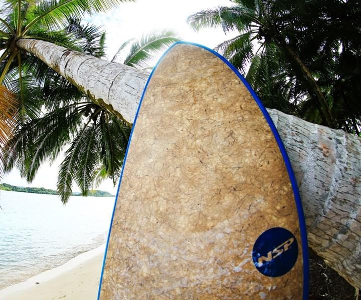 coconut fiber composite surfboard