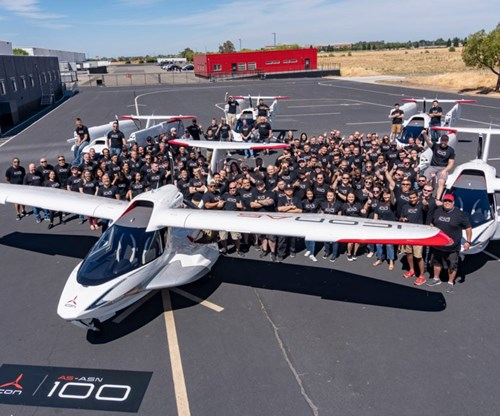 ICON Aircraft produces 100th A5 sports aircraft