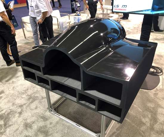large scale composite additive manufacturing
