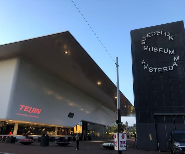 aramid fiber composite panels on museum facade