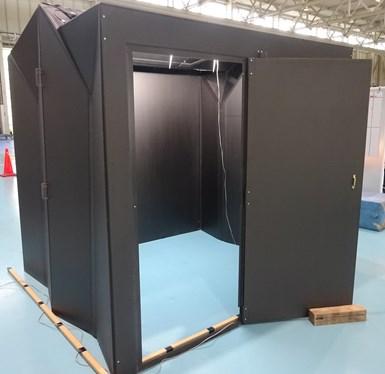 fiber reinforced plastic foldable panel prototype