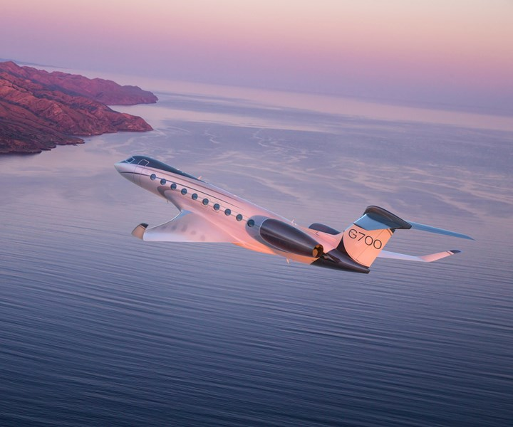 Gulfstream G700 business jet built using thermoplastic composites