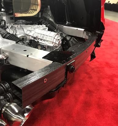 Corvette pultruded bumper beam with Vectorply carbon fiber