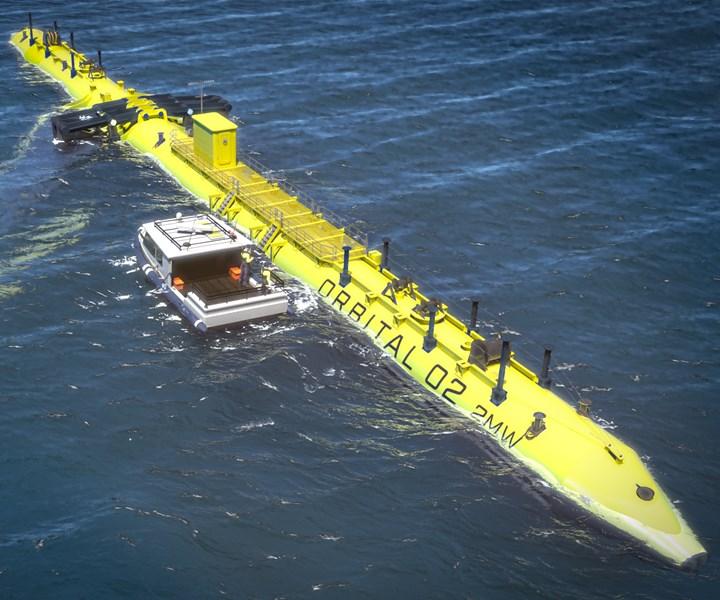 O2 2-megawatt tidal turbine