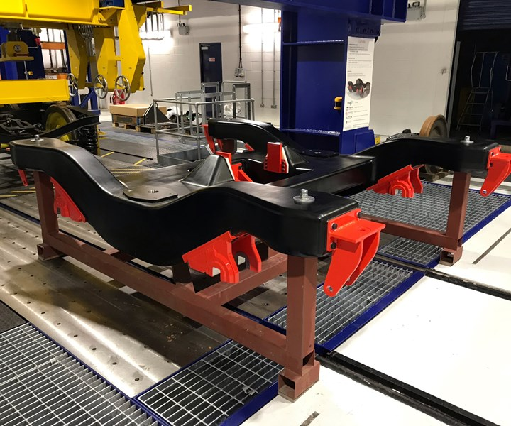 recycled carbon fiber composite rail bogie