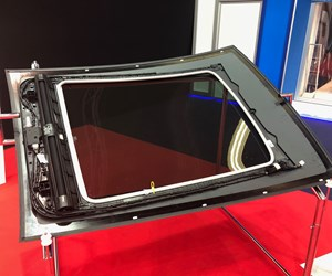 thermoplastic glass fiber reinforced composite sunroof guide rail