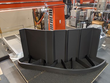 Thermwood large scale additive manufacturing machine for composite 3D printing