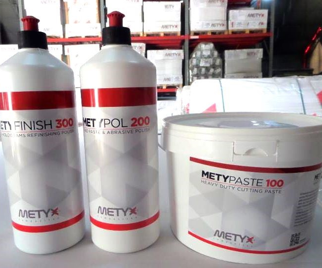 Metyx water-based polish and paste