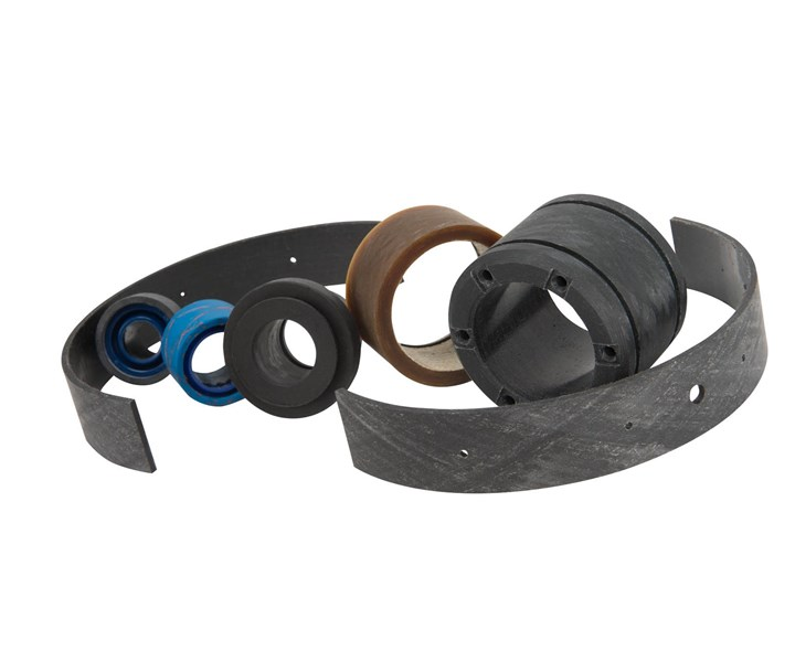 Polygon composite bearings for construction and agriculture equipment