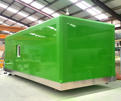FRP, pultrusion enable mobile Antarctic habitat module