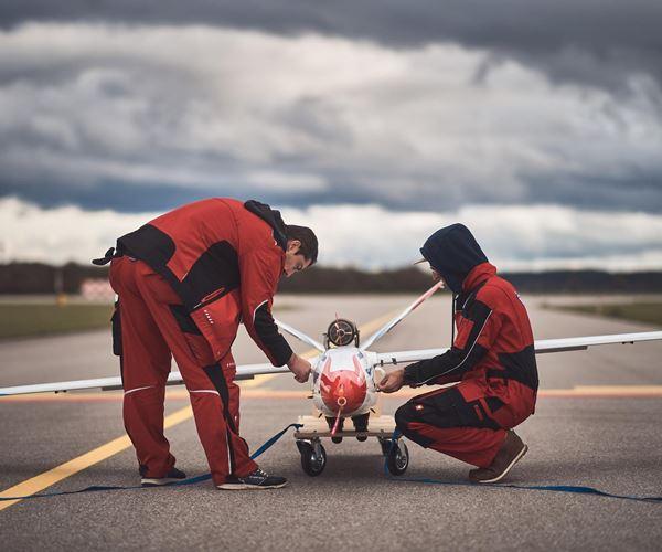 FLEXOP aeroelastic wings achieve first flight image