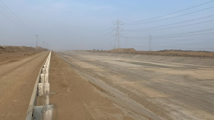 completed GFRP-reinforced concrete flood channel in Jizan