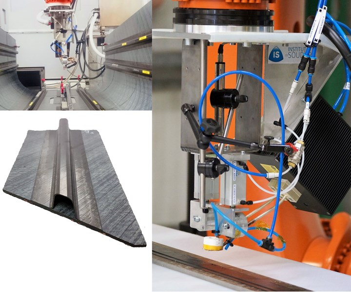 IS Groupe dynamic induction welding equipment and welded thermoplastic composite tail boom in ARCHES TP project